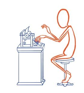 Het voordeel van een ouderwetse schrijfmachine...
