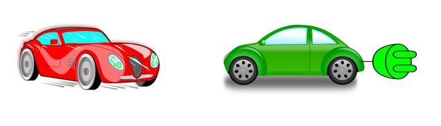 Een groene of een rode auto