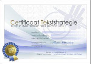 Certificaat Tekststrategie
