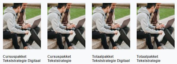Consonante heeft vier pakketten cursusmateriaal beschikbaar voor deelnemers van een betaalde training of cursus.